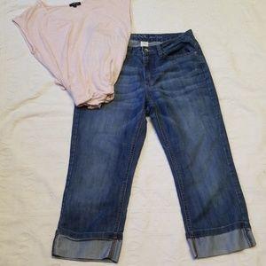 Merona loose leg cropped jeans  sz 10